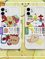 cheap -Case For Apple iPhone 11 Pattern Back Cover Word Phrase Animal Cartoon TPU Case For iPhone 11 Pro Max / SE2020 / XS Max / XR XS 7 / 8 7 / 8 plus