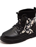 cheap -Girls' Boots Combat Boots PU Little Kids(4-7ys) / Big Kids(7years +) Walking Shoes Black / Beige Fall / Winter / Booties / Ankle Boots