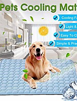 cheap -dog cooling mat, dog cooling pad, pet self cooling ice silk cooling pad for dogs cats breathable dog sleep cushion for kennel sofa bed floor car medium blue