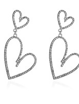 cheap -Women's Crystal Drop Earrings Drop Sweet Heart Simple Trendy Romantic Sweet Earrings Jewelry Gold / Silver For Gift Engagement Date Beach Festival 1 Pair