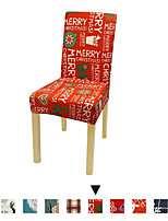 cheap -2 Pcs Christmas Patten Print Chair Cover Strech Dining Chair Slipcover High Stretch  Furniture Protector Spandex Removable Washable Chair Seat Protector Cover for Home Party Hotel Wedding