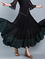 cheap -Ballroom Dance Skirts Pattern / Print Ruching Gore Women's Training Performance High Polyester
