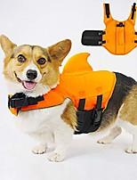 cheap -dog life jacket safety swimwear with adjustable straps for dog (orange)