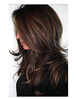 cheap -Synthetic Wig Bouncy Curl Asymmetrical Wig Medium Length Light Brown Synthetic Hair 24 inch Women's Fashionable Design Ombre Hair Light Brown