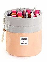 cheap -travel cosmetic bags barrel makeup bag,women&girls portable foldable cases, multifunctional toiletry bucket bags round organizer storage pocket soft collapsible