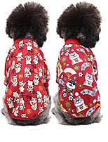 cheap -Dog Cat Sweatshirt Animal Cartoon Japan and Korea Style Dog Clothes Red / Green Red Costume Polyester XS S M L XL XXL