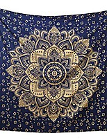 cheap -Wall Tapestry Art Decor Blanket Curtain Picnic Tablecloth Hanging Home Bedroom Living Room Dorm Decoration Polyster Print Mandala Dark Blue