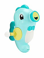 cheap -kids bath toy hand water spray toy bathtub pool squirter toy rotating sprinkler manually controlled squirt toy with handle for toddlers (seahorse-blue)