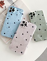 cheap -Case For iPhone 11 Pattern Back Cover Heart Textile Case For iPhone 11 Pro Max / SE2020 / XS Max / XR XS 7 / 8 7 / 8 plus