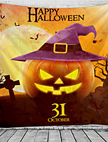 cheap -Halloween Wall Decor 100% Polyester Classic / Psychedelic Wall Art, 150*100 cm Decoration