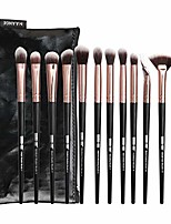 cheap -makeup brush sets, 12 pcs fan makeup brushes premium synthetic blending liquid fluffy cosmetic brushes for face concealer contour foundation eyeshadow eyeliner brow neck nose & # 40; and& #41;