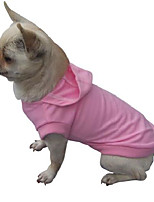 cheap -freedogs puppy dogs cotton winter clothing tee hoodie-pink-s