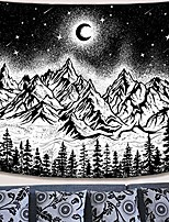 cheap -moon and star tapestry wall hanging tapestries black and white wall blanket wall art for living room bedroom wall decor& #40;black, 50& #39;& #39;x 60& #39;& #39;& #41;