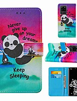 cheap -Case For Samsung Galaxy Note 20 Galaxy Note 20 Ultra Galaxy A21s Wallet Card Holder with Stand Full Body Cases Panda PU Leather TPU for Galaxy A51 5G Galaxy A71 5G Galaxy S20 Ultra