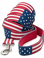 cheap -american flag dog leash