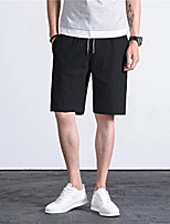 cheap -Men's Basic Daily Shorts Pants Solid Colored Outdoor Black Gray XL XXL