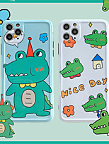 cheap -Cartoon Crocodile  IMD Case For Apple iPhone 11 Pro Max 8 Plus 7 Plus 6 Plus Max Back Cover