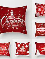 cheap -1 Set of 6 pcs Christmas Series Decorative Linen Throw Pillow Cover for Christmas Gift Home Decoration,18 x 18 inches 45 x 45 cm
