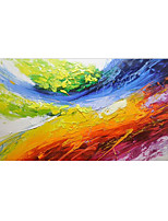 cheap -Oil Painting Hand Painted - Abstract Still Life Modern Rolled Canvas (No Frame)