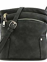 cheap -triple zip pocket medium crossbody bag (charcoal grey)