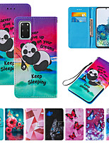 cheap -Case For Samsung Scene Map Samsung Galaxy S20 S20 Ultra Note 20 Note 20 Ultra Cartoon Flower and Animal Pattern Cross Pattern Series PU Leather Card Holder all-inclusive Phone Case