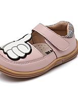 cheap -Girls' Flats Flower Girl Shoes PU Little Kids(4-7ys) Walking Shoes Split Joint White / Pink Spring / Fall