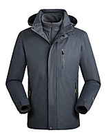 cheap -Men's Hiking Jacket Winter Outdoor Thermal Warm Waterproof Windproof Breathable Jacket Top Hunting Climbing Outdoor Black / Blue / Grey / Light Blue / Ultraviolet Resistant