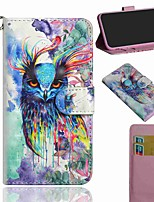 cheap -Case For Apple iPhone 11 iPhone 11 Pro iPhone 11 Pro Max Wallet Card Holder with Stand Full Body Cases Watercolor Owl PU Leather TPU for iPhone SE (2020) 8 8 Plus X XS XR Xs Max