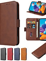 cheap -Case For Samsung Galaxy Note 20 Ultra Wallet Card Holder with Stand Full Body Cases Solid Colored PU Leather Galaxy A21S S20 Plus A51 A71 A81 A20E S10E A31 A50S A30 Note 10
