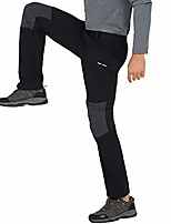cheap -men's quick dry hiking pants lightweight stretchy nylon cargo pants, 5 pockets, water resistant, black, 36