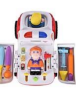 cheap -kids pretend play set multi-function electric ambulance toy car with light and sound doctor kit accessories (multicolor)