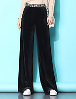 cheap -Women's Daily Wide Leg Pants Solid Colored Black Gray S M L