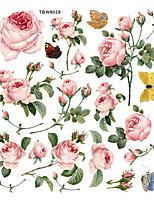 cheap -Peony Rose Wall Sticker New Flower Plant Bathroom Waterproof Sticker  PVC Self-Adhesive