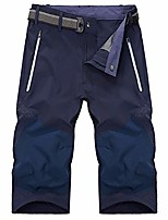 cheap -men's outdoor hiking shorts quick dry lightweight stretch mountain casual cargo shorts, blue, 30