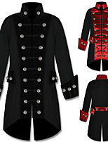cheap -Plague Doctor Retro Vintage Steampunk Coat Masquerade Tuxedo Men's Costume Black / Red Vintage Cosplay Halloween Masquerade Long Sleeve