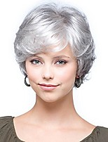 cheap -women short wigs synthetic hair fashion mother wigs, silver grey