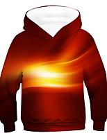 cheap -Kids Boys' Active Basic 3D Long Sleeve Hoodie & Sweatshirt Brown