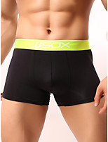 cheap -Men's 1 Piece Basic Boxers Underwear - Normal Low Waist White Black Red M L XL