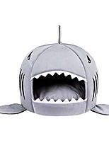 cheap -s-lifeeing fashion pet shark cushion bed winter plush nest kennel lovely tart warm comfortable dog mat pad cat mat (shark)
