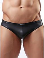 cheap -Men's 1 Piece Basic Briefs Underwear - Normal Low Waist Black M L XL