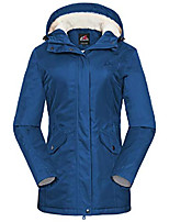 cheap -women's waterproof ski fleece jacket windproof parka winter rain coat(navy,xl)
