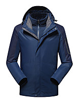 cheap -Men's Hiking Jacket Hiking 3-in-1 Jackets Winter Outdoor Patchwork Windproof Fleece Lining Breathable Warm Winter Jacket Hunting Ski / Snowboard Fishing White Red Blue Grey Dark Navy