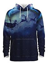 cheap -Daddy and Me Basic 3D Print Animal Print Long Sleeve Regular Hoodie & Sweatshirt Dusty Blue