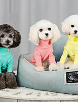 cheap -Dog Cat Hoodie T-shirts Solid Colored Casual / Sporty Fashion Casual / Daily Dog Clothes Breathable Purple Yellow Blue Costume Cotton S M L XL XXL
