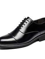 cheap -Men's Spring / Fall Business Daily Oxfords Cowhide Breathable Wear Proof Black