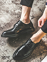 cheap -Men's Oxfords Daily Walking Shoes PU Wear Proof Black Spring / Fall