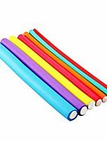 cheap -20pcs hair flexi rods flexible rods curlers no heat hair rollers twist flex rods curler hair roller (random color)