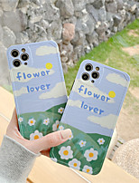 cheap -Case For Apple Scene Map iPhone 11 11 Pro 11 Pro Max Photo Frame Private Model Series Small flower letters Pattern TPU Material IMD Craft Glossy Phone Case