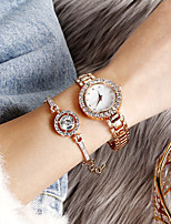 cheap -Women's Steel Band Watches Quartz Stylish Glitter Casual Chronograph Analog Rose Gold Silver