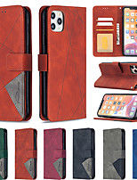 cheap -Case For Apple iPhone 11 iPhone 11 Pro iPhone 11 Pro Max XS MAX  XR X XS 6 7 8Plus  SE 2020 Card Holder   Flip   Magnetic Full Body Cases Solid Colored Genuine Leather